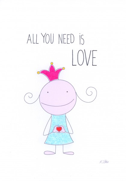 """Passepartout """"All you need is love"""""""