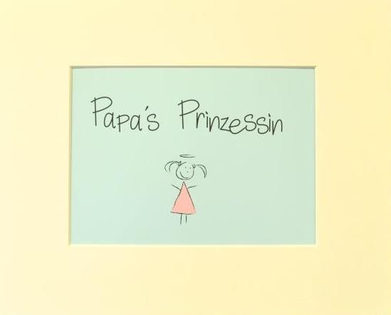 "Passepartout ""Papa's Prinzessin"""