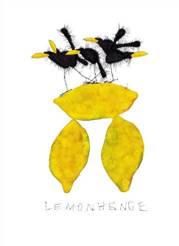 "Michael Ferner Kunstdruck ""Lemonhenge"" limitiert und handsigniert"