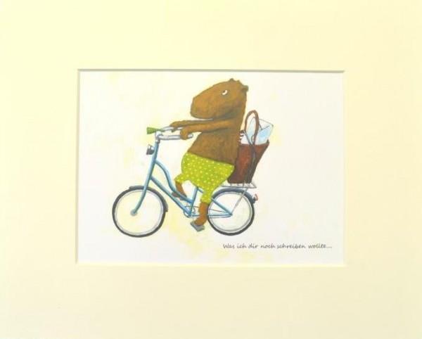 "Passepartout ""Fahrradbote"""