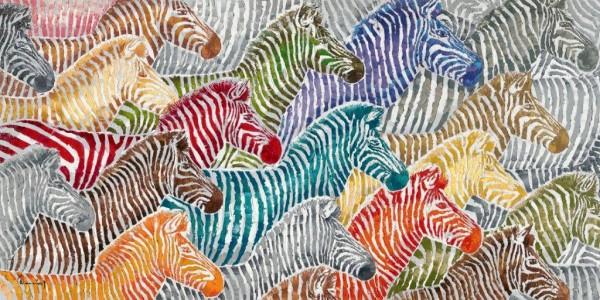 """Bild """"bunte Zebras"""" by SABODesign"""