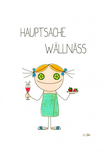"Passepartout ""Hauptsache Wellness"""