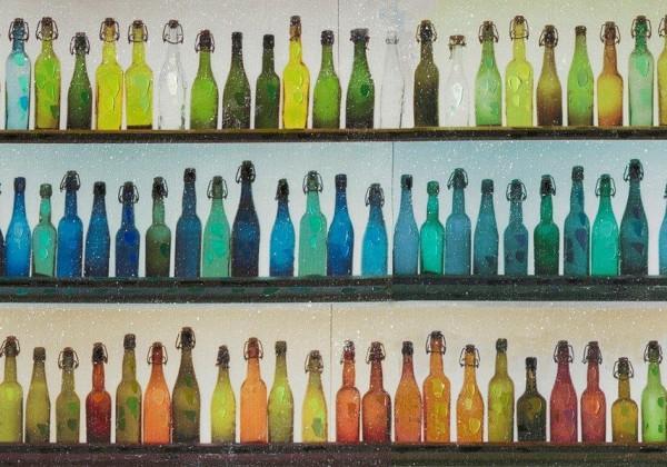 Flaschen (grün/türkis)