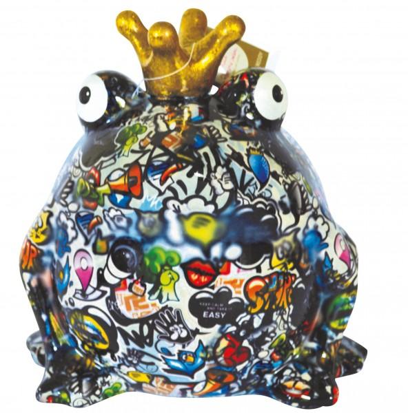 Spardose Frosch Freddy Graffiti