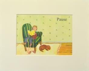 "Passepartout ""Pause im Sessel"""