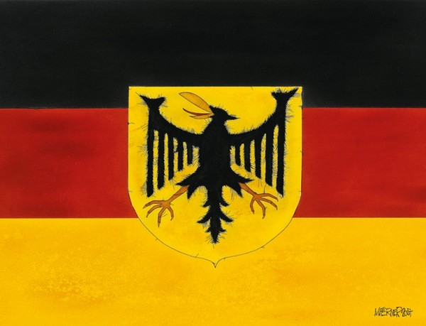 "Michael Ferner ""Flag of Germany"" limitierte + handsignierte 333er Auflage"