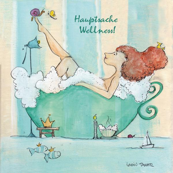 """Holzbilder von Karin Tauer """"Hauptsache Wellness"""""""