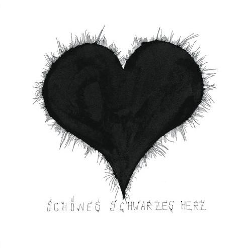 """Michael Ferner Kunstdruck """"schönes schwarzes Herz"""" limitiert und handsigniert"""