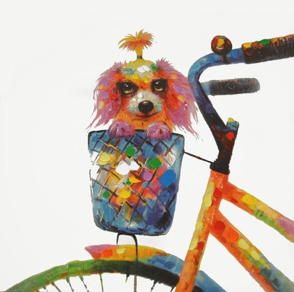 """Bild """"Hund im Fahrradkorb"""" by SABODesign"""