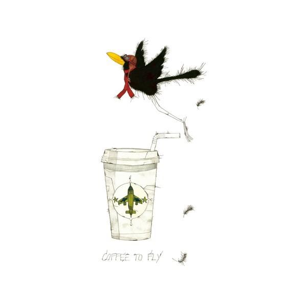 """Michael Ferner """"Coffee to fly"""" limitierte + handsignierte 333er Auflage"""