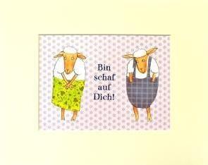 """Passepartout """"Schaf auf Dich"""""""