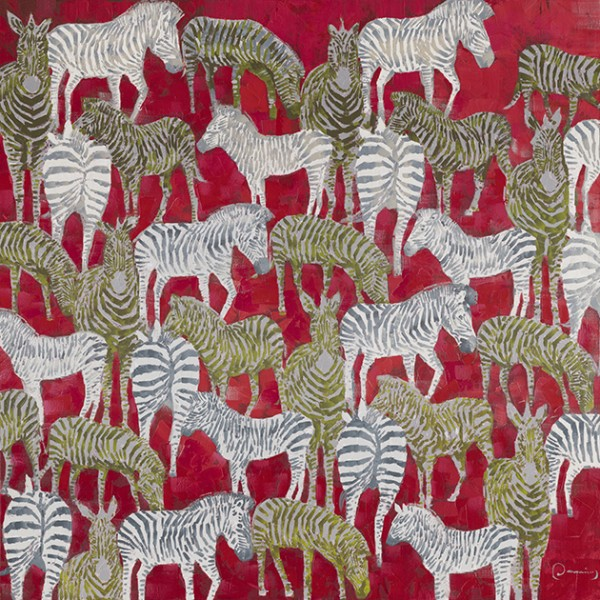 "Bild ""Zebras in Rot"" by SABODesign"