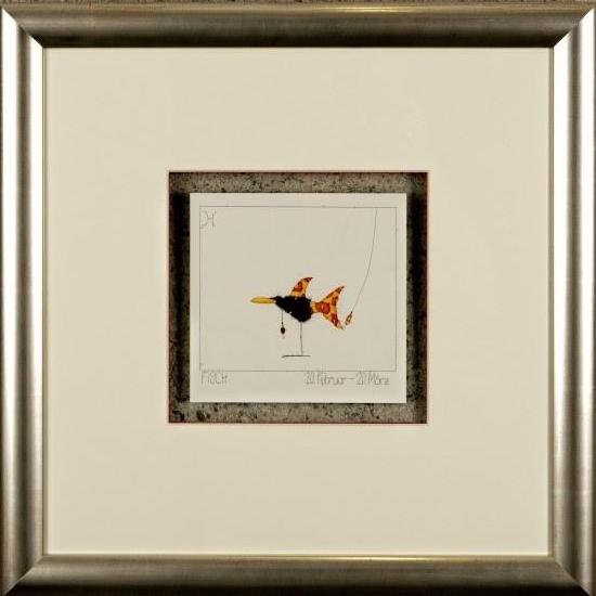 Kunstdruck Sternzeichen Fisch