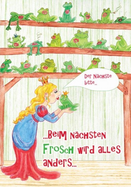 "Holzbilder von Sonja Knyssok - ""nächster Frosch"""