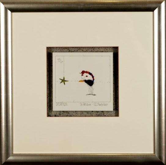 Kunstdruck Sternzeichen Skorpion