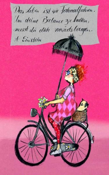 "Holzbilder Yvonne Hoppe-Engbring ""Coloured Edition"" - Fahrrad fahren"