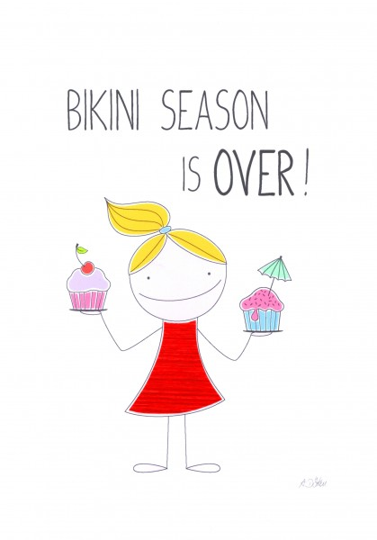 "Passepartout ""Bikini Season is over"""