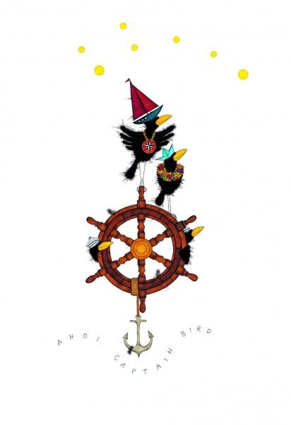 "Michael Ferner Kunstdruck ""Ahoi Captain Bird"""